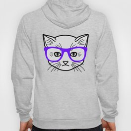 Hipster Kitty Hoody