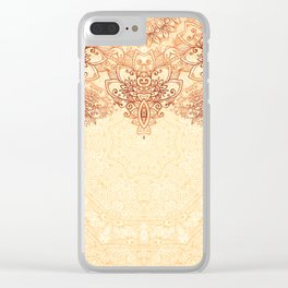 Elegance Ornate Mehndi Mandala v.3 Clear iPhone Case