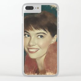 Leslie Caron, Movie Legend Clear iPhone Case