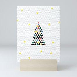 Geometric Christmas Tree Mini Art Print