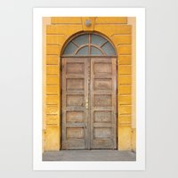 real madrid Art Prints featuring Madrid Door by Diego Tirigall
