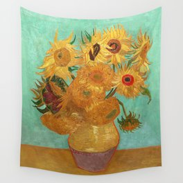 Vincent Van Gogh Twelve Sunflowers In A Vase Wall Tapestry