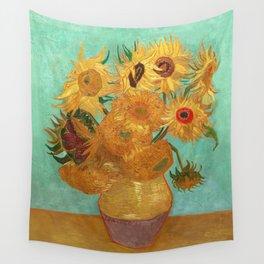 Vincent Van Gogh Twelve Sunflowers In A Vase Wall Tapestry