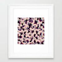 witchoria Framed Art Prints featuring DRUNK by RUEI