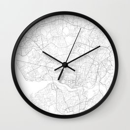Porto, Portugal Minimalist Map Wall Clock
