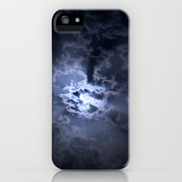 Full moon at night iPhone Case