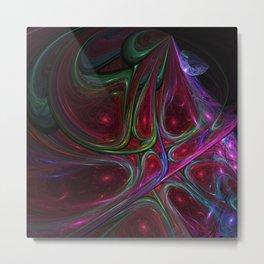Glass Painted Galaxies Metal Print