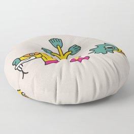 Aztec Glyphs ~3 Floor Pillow