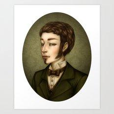 Vampire Gentleman Art Print