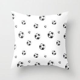 Football balls pattern Throw Pillow