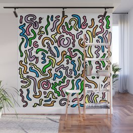 Friendly Wiggly Worms Pattern | Veronica Nagorny Wall Mural