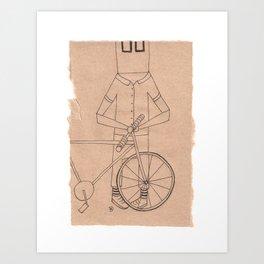 J || SquareEyes Art Print