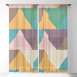 Kilim Chevron Sheer Curtain
