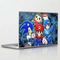 super smash bros Laptop & iPad Skins featuring Super Smash Bros  by Blaze-chan