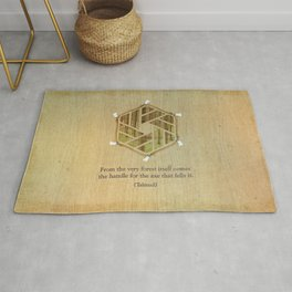 Forest & Axe — Illustrated Quote Rug