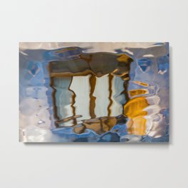 Gaudi Abstract Glass Reflections Metal Print