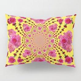 modern art cerise pink & yellow Pillow Sham