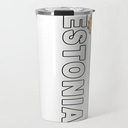 Estonia National Sports Jersey Style Travel Mug