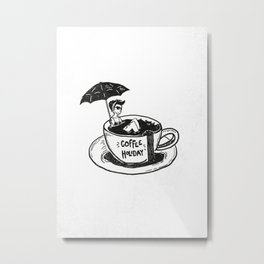 Coffee Holiday Metal Print