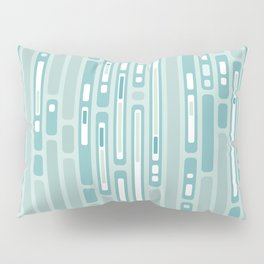 Ocean Reflection – Blue / Teal Midcentury Abstract Pillow Sham