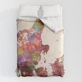 Danemark map Comforters