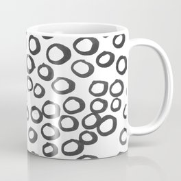 Hand painted monochrome rings pattern Coffee Mug