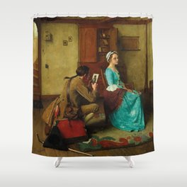 THE SILHOUETTE by NORMAN ROCKWELL Shower Curtain