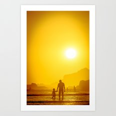 The first time he saw the ocean Art Print