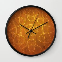 Chladni Pattern - Yellow by Spencer Gee Wall Clock