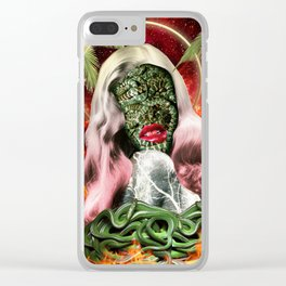Trouble In Paradise Clear iPhone Case