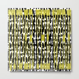 Yellowabstract Metal Print