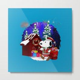 Snoopy Winter Xmas Christmas Metal Print