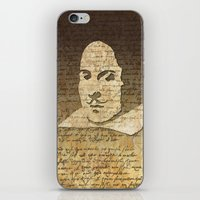 shakespeare iPhone & iPod Skins featuring William Shakespeare by Vi Sion