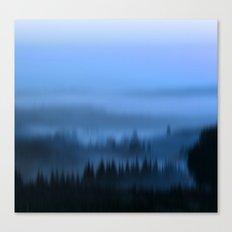 Blue Forest Haze Canvas Print