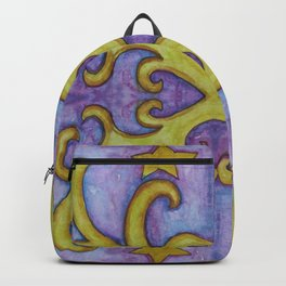 STARS & SWIRLS, watercolor painting Backpack