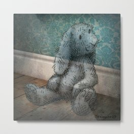 A Child's Bunny from Barely There Metal Print