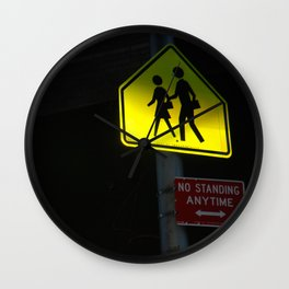 NO STANDING ANYTIME. Wall Clock