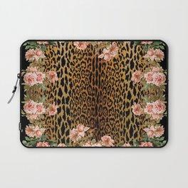 Rose around the Leopard Laptop Sleeve