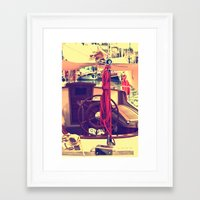 boat Framed Art Prints featuring boat by gzm_guvenc