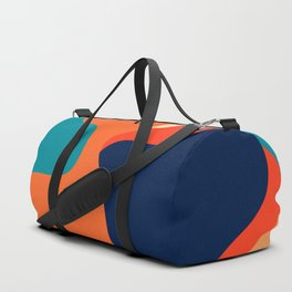 Retro 70's and 80's colorful fluid abstraction Duffle Bag