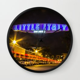 Little Italy (San Diego) Sign - SD Signs Series #5 Wall Clock