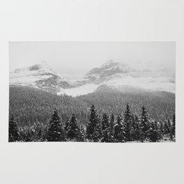 Landscape Photography Winter Wonderland | North Pole | Blizzard Forest Mountain Rug