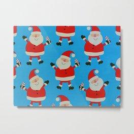 Happy Santas Metal Print
