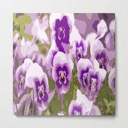 Lovely flowers all over - summer mood - #society6 #buyart #pivivikstrm Metal Print