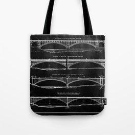 Washington Bridge Proposal Blueprint Tote Bag