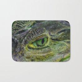 spectacled caiman eye Bath Mat