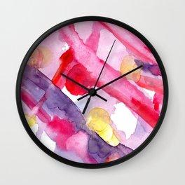 Summer reinbow Wall Clock
