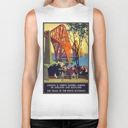 Vintage poster - Forth Bridge Biker Tank