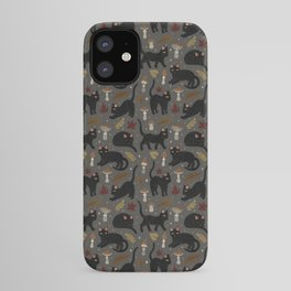 autumn cat magic iPhone Case