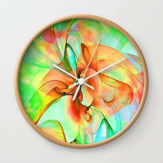 Dancing Veil 4 Wall Clock